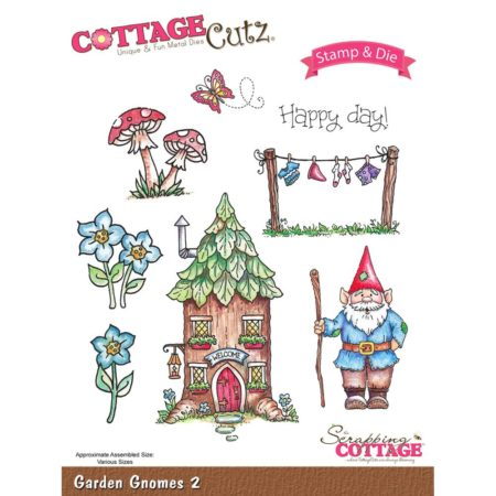 CottageCutz - Stamp & Die Set - Garden Gnomes 2 - CCS-016