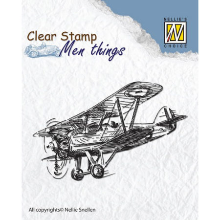Nellie´s Choice Stempel - Men Thing – Airplane - CSMT004