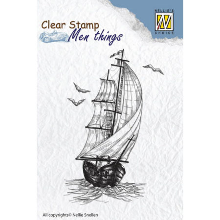 Nellie´s Choice Stempel - Men Thing – Sailingboat - CSMT006
