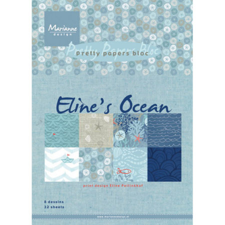 Marianne Design - Eline's Ocean - Pretty Papers bloc - PB7052