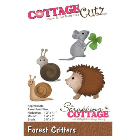 Cottage Cutz Dies - Hedgehog, Mouse, Snails - CC-222