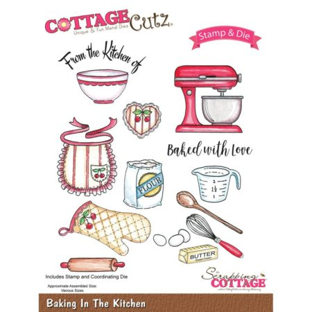 CottageCutz - Stamp & Die Set - Baking In The Kitchen - CCS-013