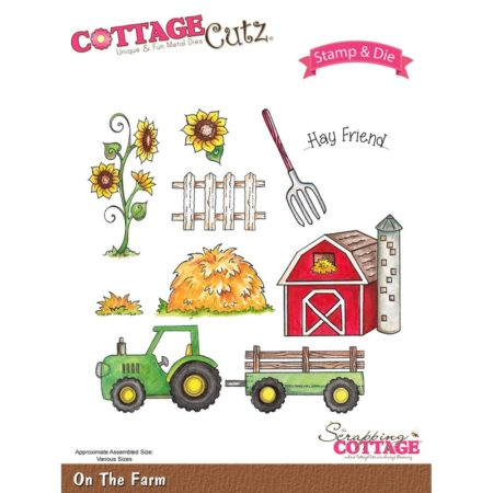 CottageCutz - Stamp & Die Set - On The Farm - CCS-017