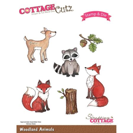 Cottage Cutz - Stamp & Die Set - Woodland Animals - CCS-019