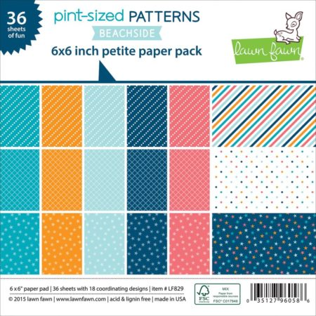 Lawn Fawn - Paper Pack - Beachside, Pint-Size Patterns - LF829