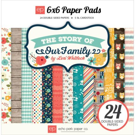 Echo Park Paper – dobbeltsidet Paper Pad – The Story Of Our Family - TSY92023