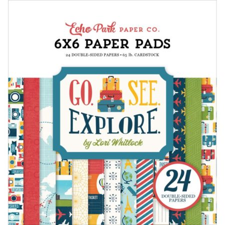 Echo Park Paper – dobbeltsidet Paper Pad – Go, See, Explore - GSE27023