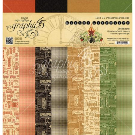 Graphic 45 - Master Detective Print/Solid - 4501572