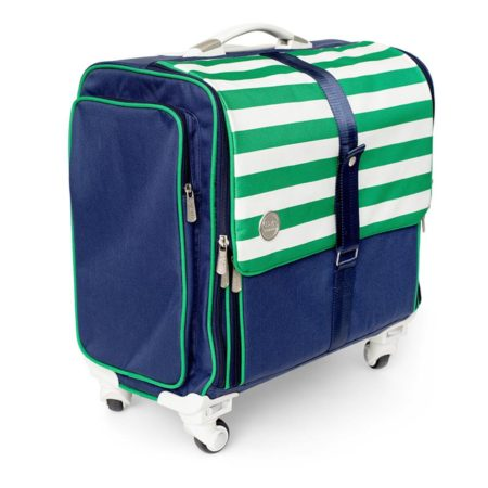 WE R MEMORY Keepers-360 Crafters Rolling Bag - Navy