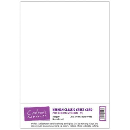 Crafter's Companion - Neenah Classic Crest Card Solar White - 942038