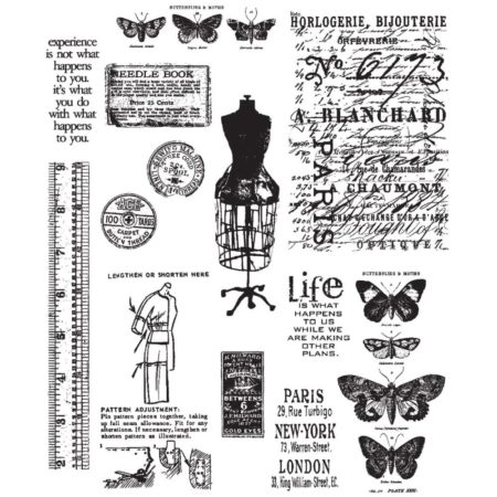 Tim Holtz -Cling Stamps - Attic Treasures - CMS123
