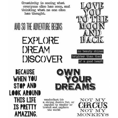 Tim Holtz - Cling Stamps - Life Quotes - CMS227