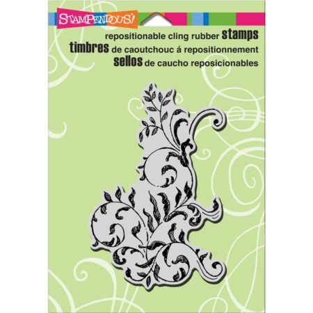 Stampendous Cling Stamp - Scrollwork Leaves - CRP295