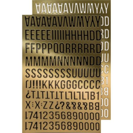 Tim Holtz - Idea-Ology - Metallic Stickers Alpha Gold - TH93560
