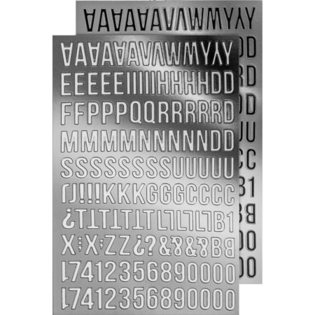 Tim Holtz - Idea-Ology - Metallic Stickers Alpha Silver - TH93561