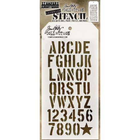Tim Holtz - Layered Stencil - Crate - THS089