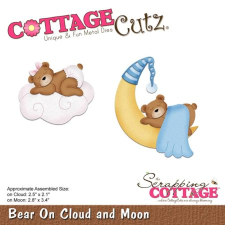 Cottage Cutz - Bear On Cloud & Moon - CC-296