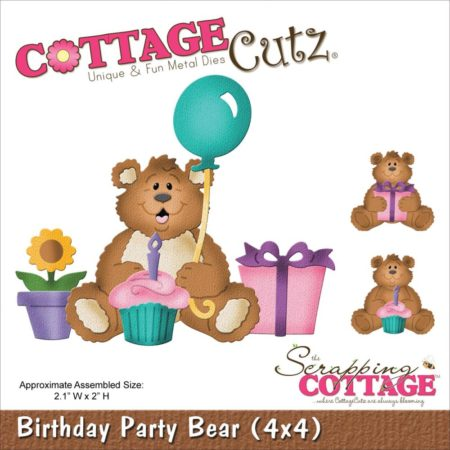 Cottage Cutz - Birthday Party Bear - CC4x4-585