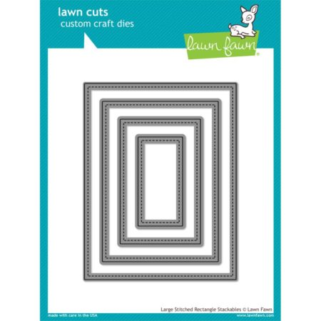 Lawn Fawn Dies - Large Stitched Rectangle - LF767
