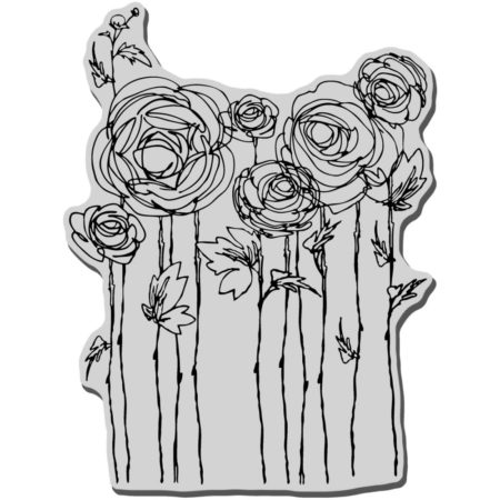 Stampendous - Cling Stamp - Ranunculus Field - CRR112