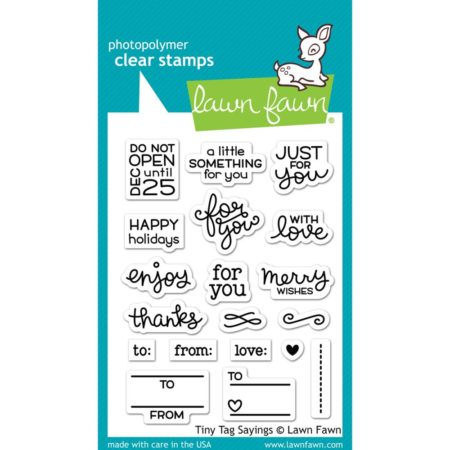 Lawn Fawn Clear Stamps - Tiny Tag Sayings - LF1222