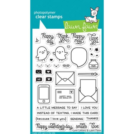 Lawn Fawn Clear Stamps - Love Letters - LF1292