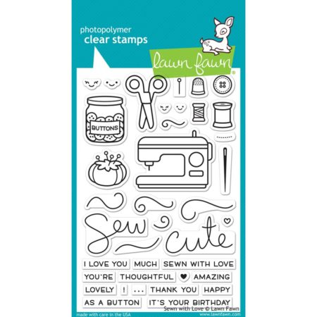 Lawn Fawn Clear Stamps - Sewn With Love - LF1309