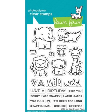 Lawn Fawn Clear Stamps - Wild For You - LF1413
