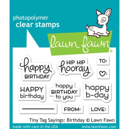 Lawn Fawn Stamps - Tiny Tag Sayings - Birthday - LF1421
