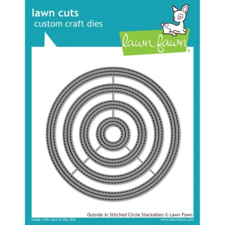 Lawn Fawn Dies - Outside In Stitched Circle Stackables - LF1441