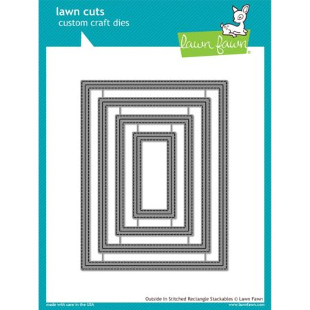 Lawn Fawn Dies -Outside In Stitched Rectangle Stackables - LF1442