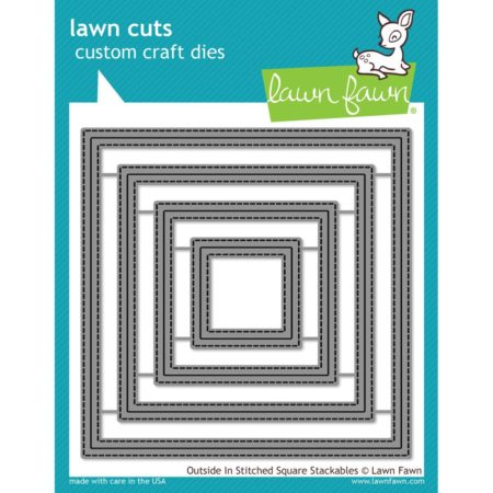 Lawn Fawn Dies - Outside In Stitched Square Stackables - LF1443