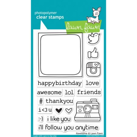 Lawn Fawn Clear Stamps - #awesome - LF652
