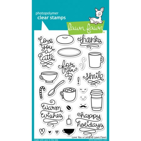 Lawn Fawn Clear Stamps - Love You a Latte - LF704