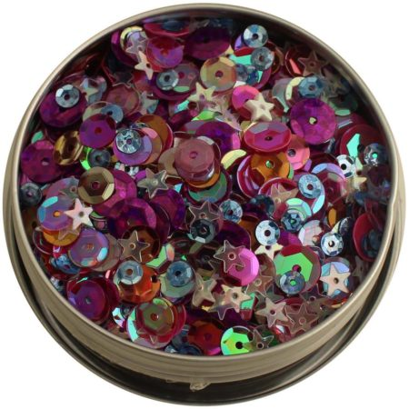 Lilac Lane Tin W/Sequins - Mixed Berry - LL313