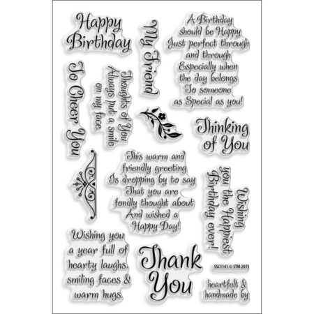 Stampendous Perfectly Clear Stamps - Friendly Phrase - SSC1141