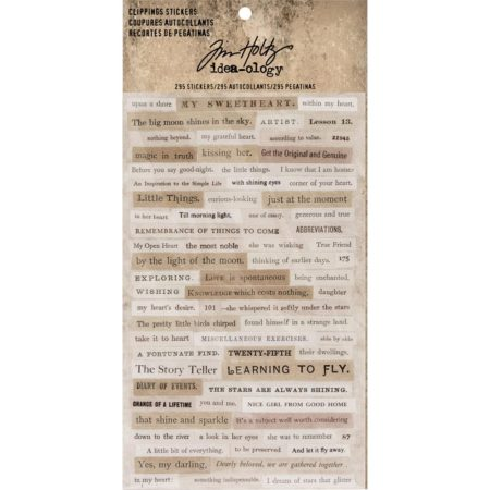 Tim Holtz-Idea Ology - Clippings Stickers - TH93583