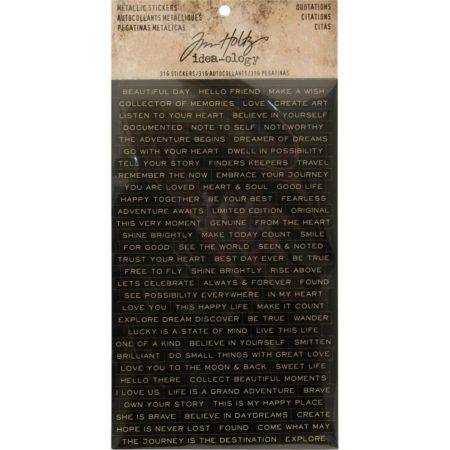 Idea-Ology Tim Holtz - Metallic Stickers - Quotations - TH93559