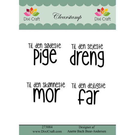 Dixi Craft - clear stamp - Tekst - 273084