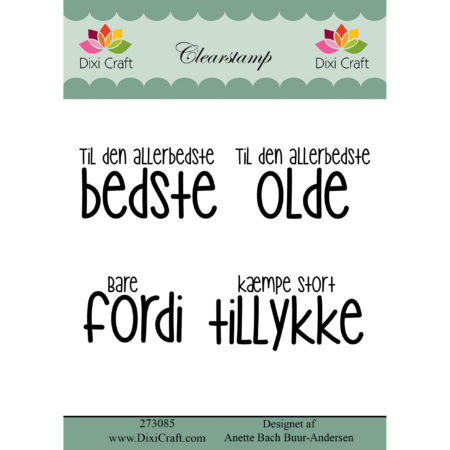 Dixi Craft - clear stamp - Tekst - 273085