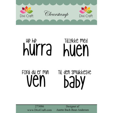 Dixi Craft - clear stamp - Tekst - 273086