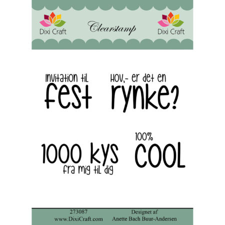 Dixi Craft - clear stamp - Tekst - 273087