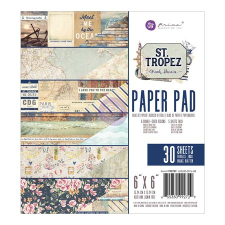 "Prima - St. Tropez Double-Sided Paper Pad 6""X 6"" - 992729"
