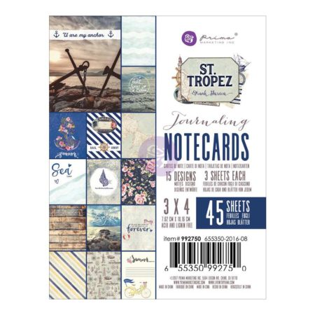 "Prima - St. Tropez Journaling Notecards Cards 3""X 4"" - 992750"