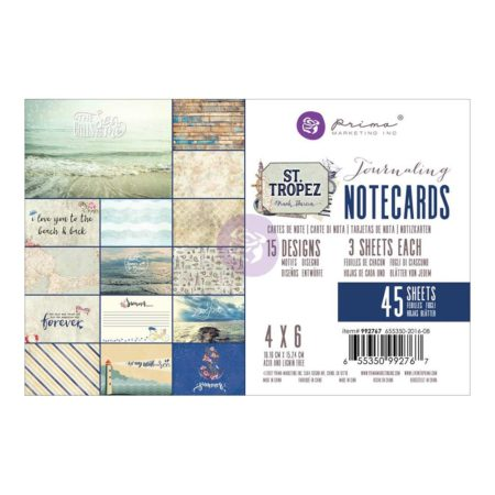 "Prima - St. Tropez Journaling Cards 4""x 6"" - 992767"