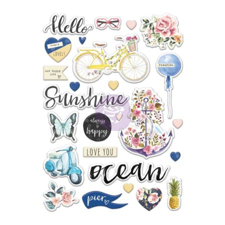 Prima - St. Tropez Puffy Stickers - 992804