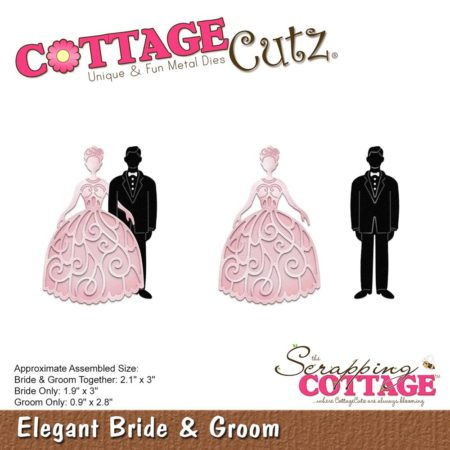 Cottage Cutz - Elegant Bride & Groom - CC-318