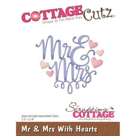 Cottage Cutz - Mr & Mrs With Hearts - CC-322
