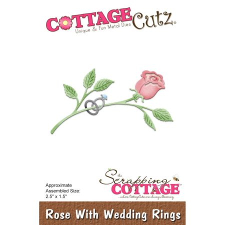 Cottage Cutz - Rose With Wedding Rings - CC-324