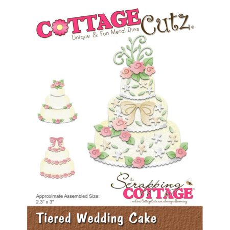 Cottage Cutz - Tiered Wedding Cake - CC-326